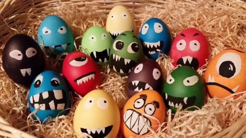 Jajca lahko postanejo tudi male pošasti.