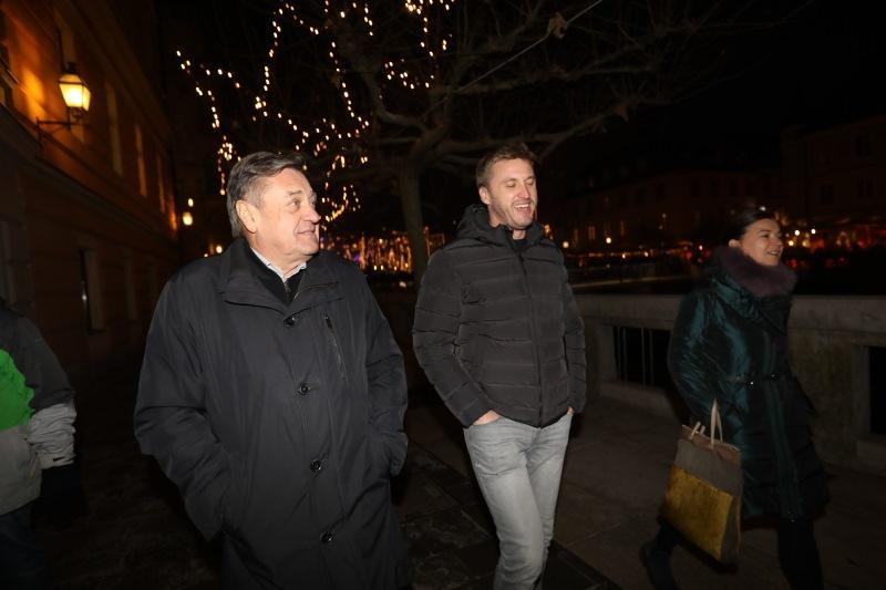 Avdić in Jankovič na obhodu po Ljubljani