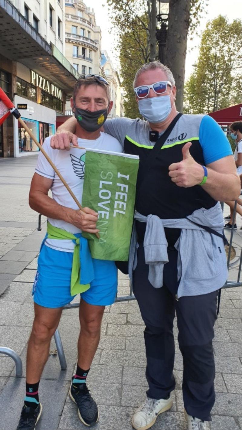 Miha s slovenskim navijačem