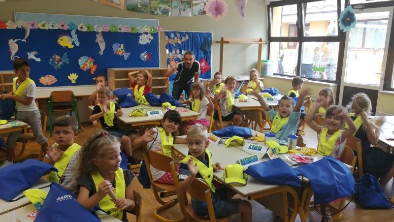 Tomaž in veseli prvošolčki iz Kopra