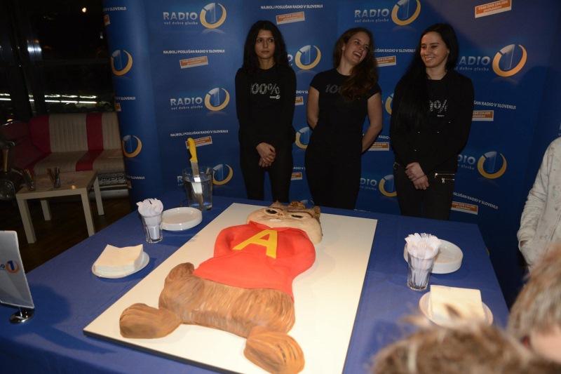 Na koncu je sledila še velika torta.
