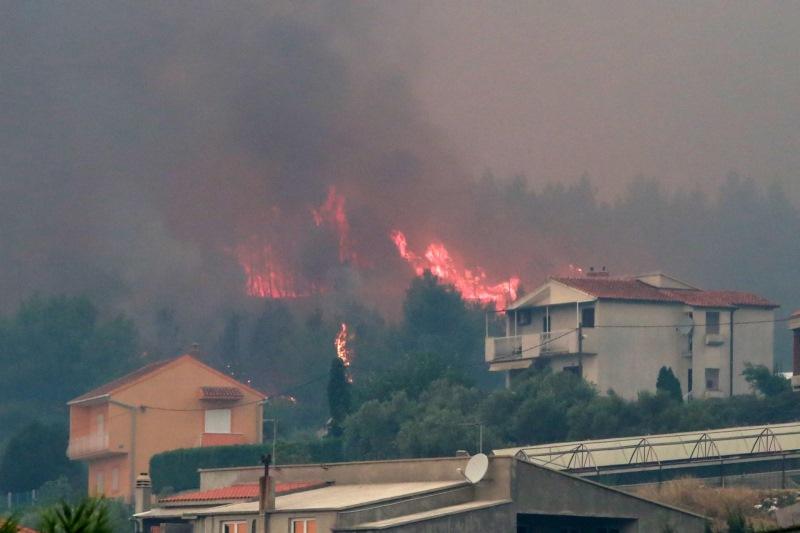 Požar Korešnica Foto: Večernji list (Miranda Cikotič)