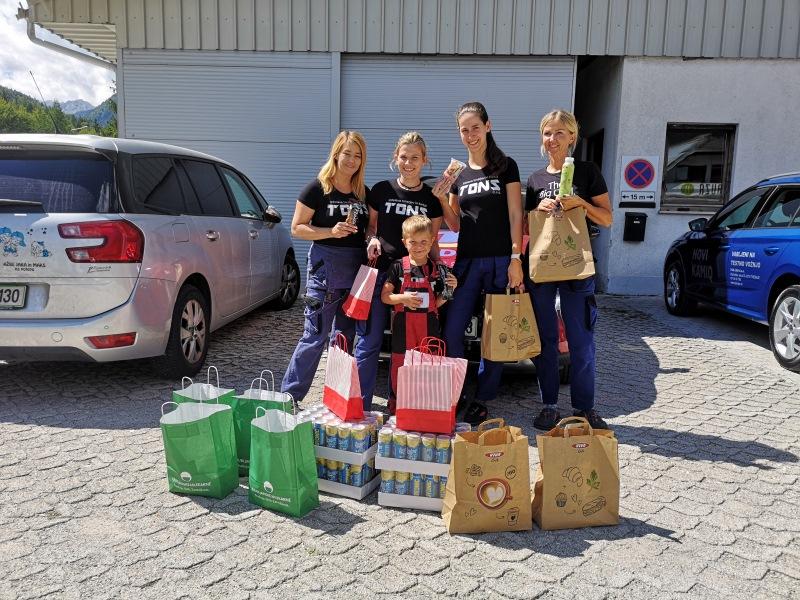 Sodelavke Ingrid Vogelnik, Tjasa Bizalj, Mateja Bojic in Aida Selimovic, Kranjska gora