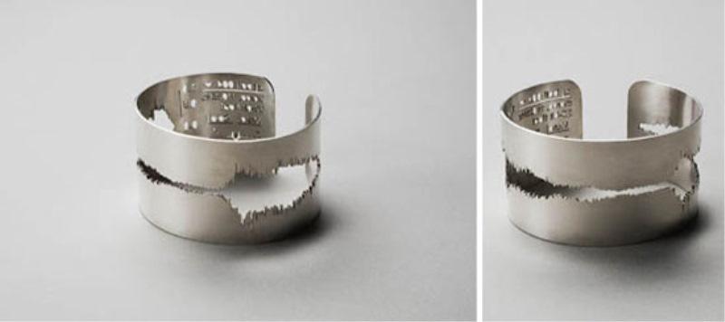Tako je videti zvočni zapis poročne zaprisege, vgraviran v prstan.