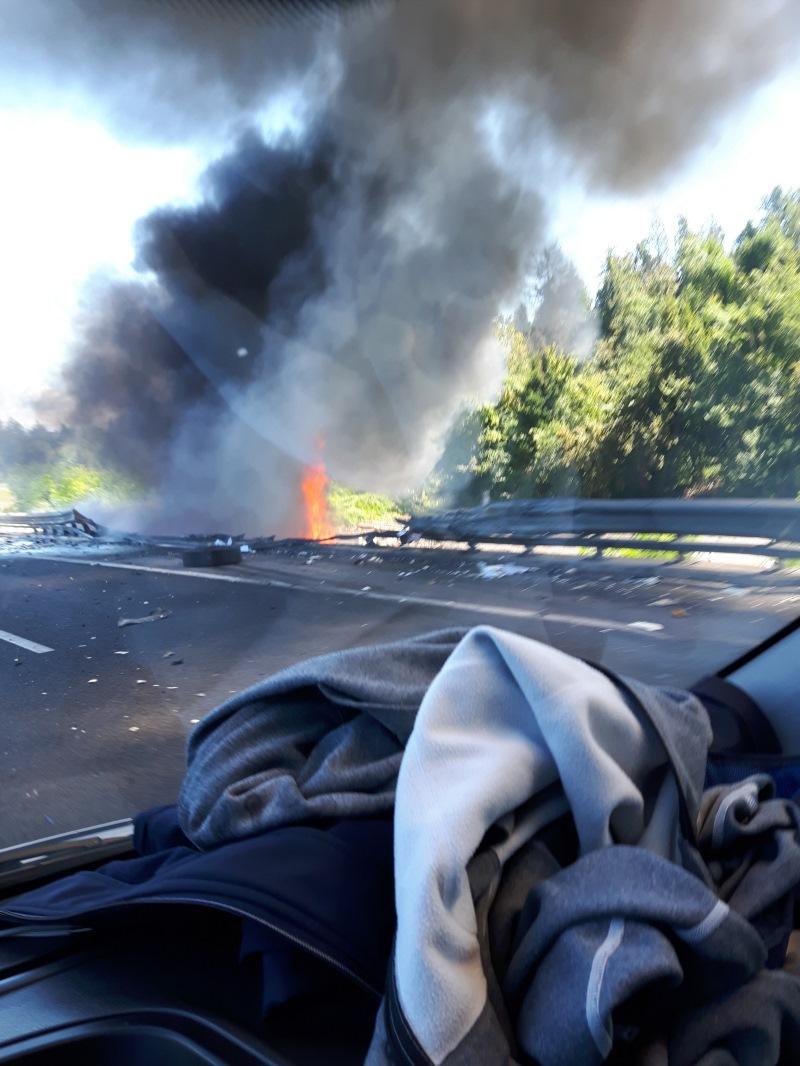 Zagorel tovornjak na primorski AC (Foto: Aleš Štrekelj)